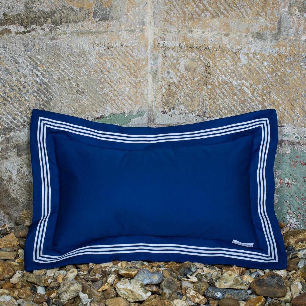 Sailor Cushion – Navy, Oblong