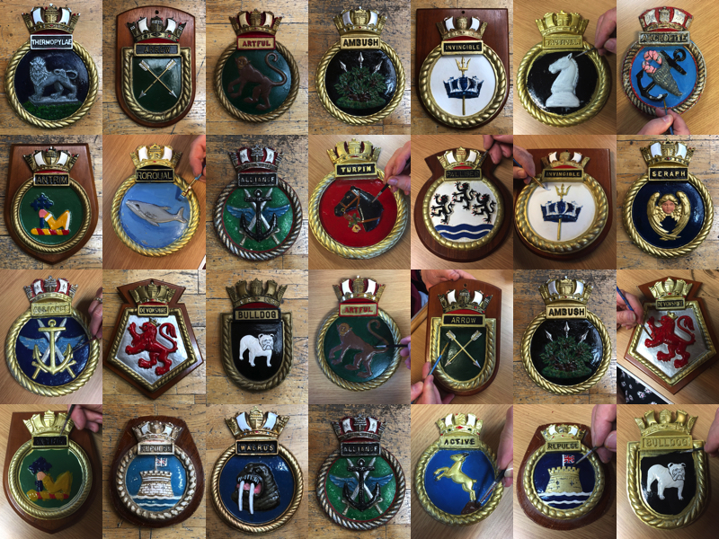 Restoring Ships' Crests - Company of Makers