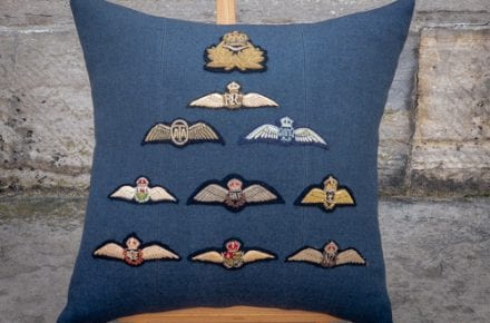 RAF Brevet Commissioned Cushion