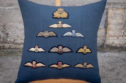 RAF Brevet Commissioned Cushion