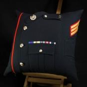 Royal Marines Sergeant Blues Cushion